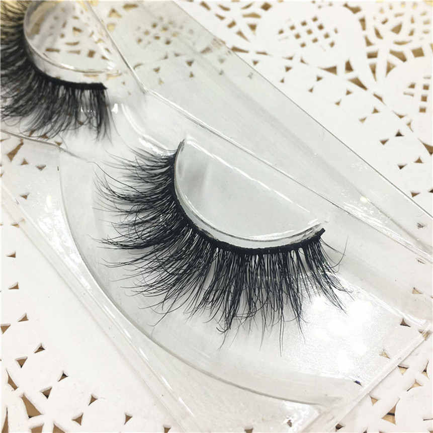 3D False Eyelashes Extension Thick Cross Fake Eyelashes Natural A05 Black Eyes Makeup Drop Shipping 80315