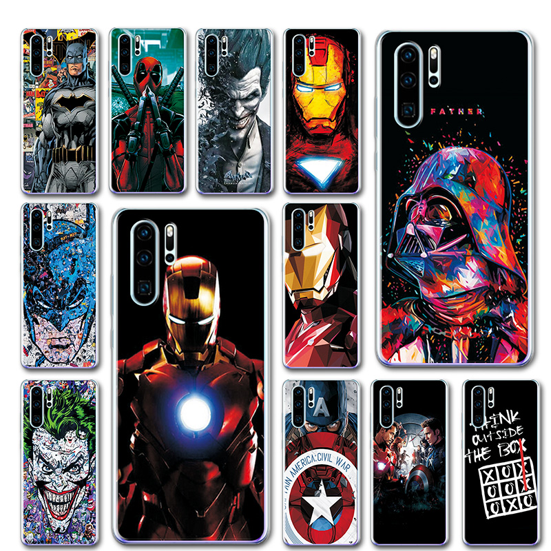 P30Pro Soft TPU Case Cover For Huawei P30 Pro Novelty Captain America Phone Case Fundas For Huawei P30 Pro VOG-L29 ELE-L29 6.47""