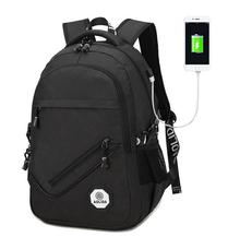 2017 16 Inch Laptop Backpack External USB Charge Computer Backpacks Waterproof Bags for Men Women Anti-theft