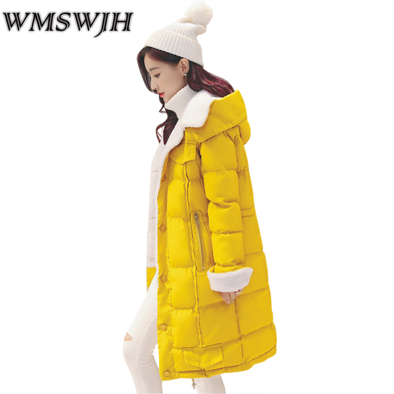 2017 New Women Winter Coat Fashion Slim Hooded Lambs Woolen Jacket Female Winter Student Thick  Overcoat Parka Outerwear WS239 akslxdmmd fashion casual winter thick hooded jacket 2017 new parka women parttern letters mid long coat female overcoat lh1227