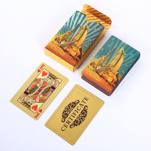 24K Gold Foil Plated Playing cards Waterproof Plastic Playing Card Creative Gift Poker Cards Collection Plastic Game Cards bicycle tragic royalty playing cards original poker cards for magician collection card game