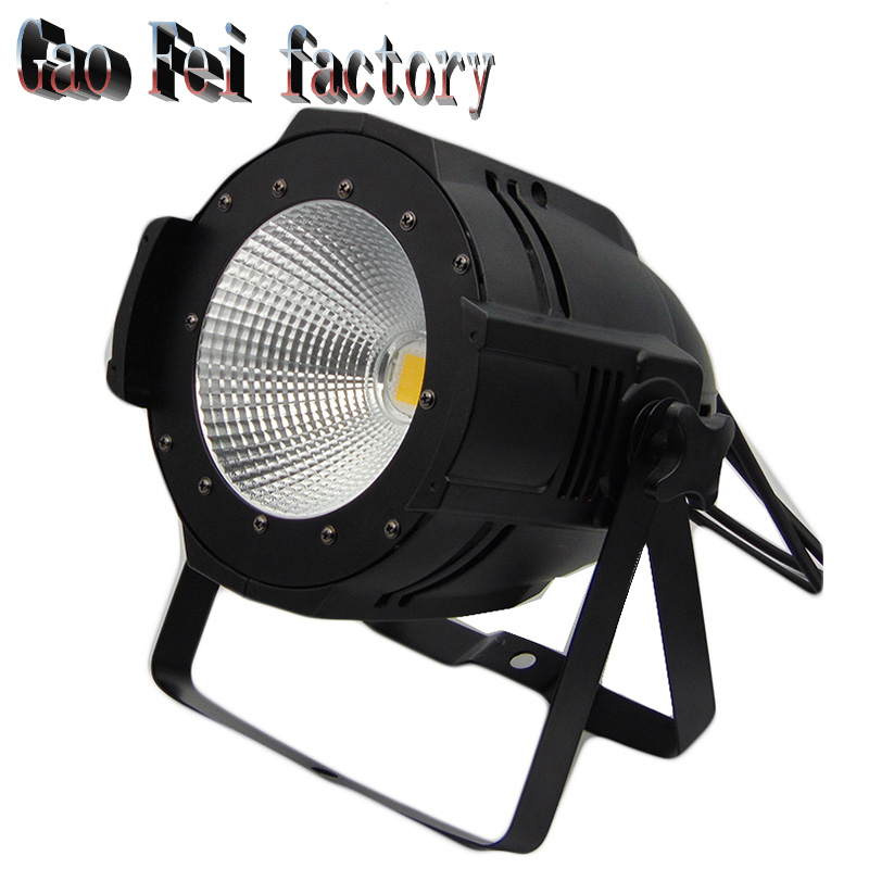 все цены на 100W COB LED PAR DMX Theater Spotlight warm white and White DMX512 LED Stage Lighting Projector led par 100w COB light онлайн