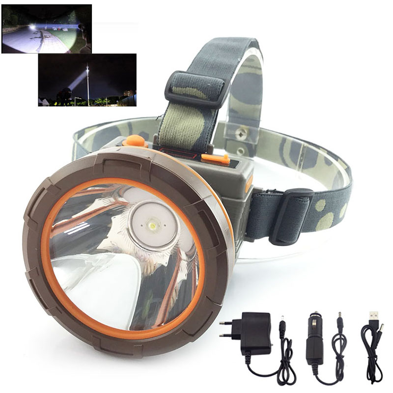rechargeable Led Headlight super bright Headlamp Frontale powerful Head Torch Lamp light Buit-in battery For Fishling Camping super bright led headlamp water resistant head torch built in 3x18650 rechargeable batteries 2 light modes headlight for outdoor