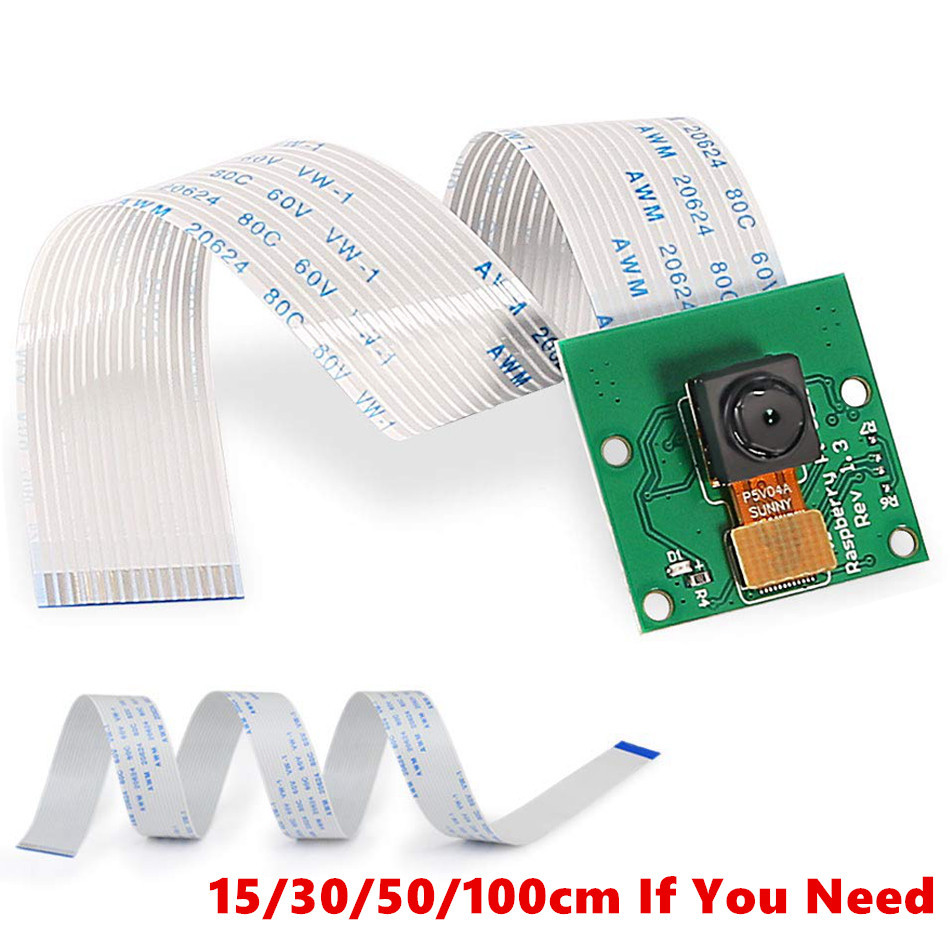 For Raspberry Pi Camera 1080p 720p Camera Module For Raspberry Pi 3 Model B+ 5Mp Webcam For Raspberry Pi 2 Model B Camera Cable