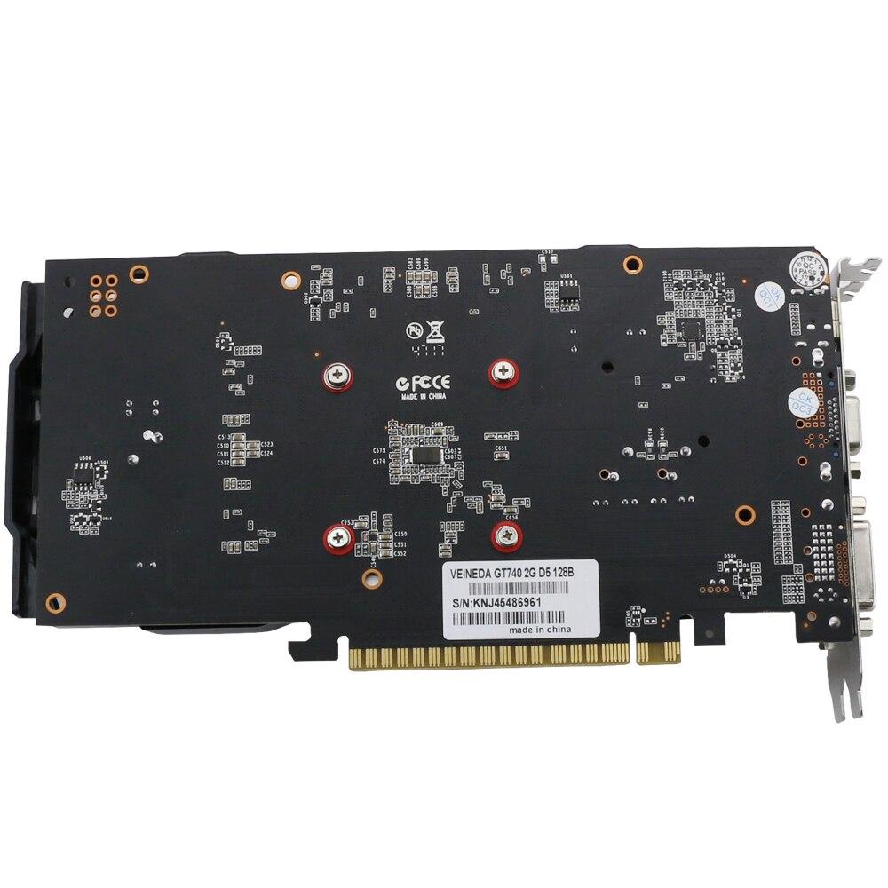 VEINEDA carte vidéo originale nouvelle carte graphique GT740 2 GB GDDR5 128BIT pour nVIDIA Geforce Games - 5
