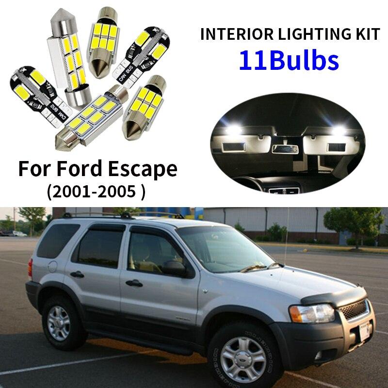 Tool Xenon White Interior Car LED SMD Light Bulbs Kit For Volvo C30 2006-2012