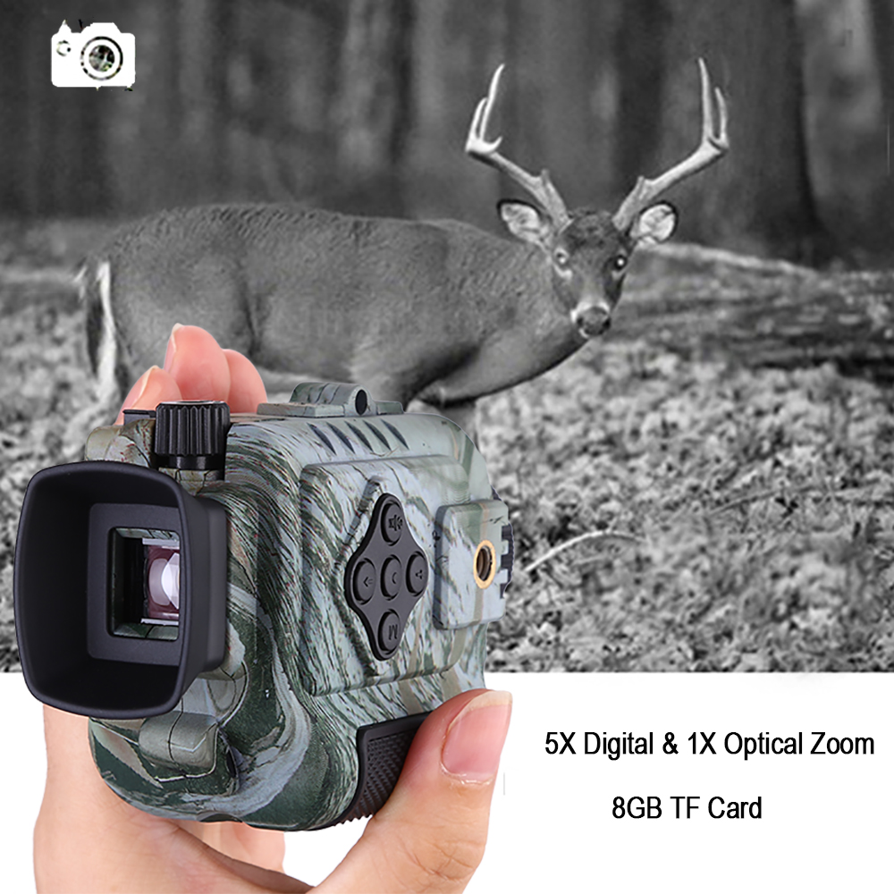 Portable Mini Infrared Night Vision Monocular Digital Scope Telescope Long Range 8GB DVR Camera For Outdoor Sport Hunting