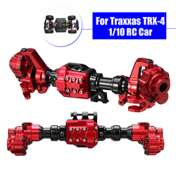 Front Rear Portal Axles Housing For Traxxas TRX-4 CNC Aluminum Alloy RC Crawler Car Anodized Surface Anti Slight Scratch Red