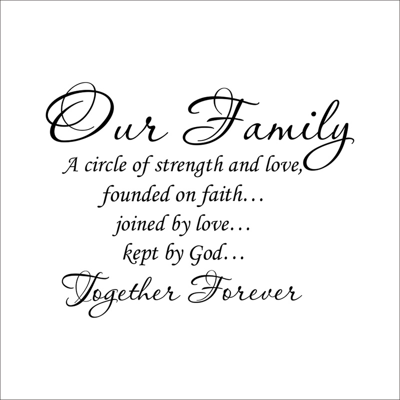 Our Family Together Forever Wall Sticker Quotes Lettering ...