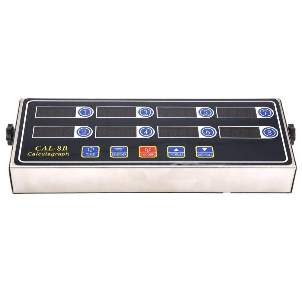 CAL-8B Portable Chronomètre 8 Canal Numérique Minuterie Cuisine Cuisine Calendrier LCD Affichage Horloge Secouant Rappel