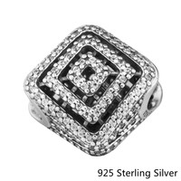 925 Sterling Silver Geometric Lines Charm, Style And More Suitable For Large Pieces Of Jewelry Pendant