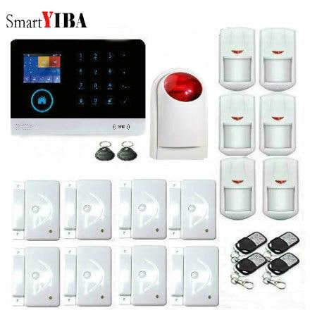 SmartYIB Whole-Home Security Intelligent Smartphone App Remote Conntrol WIFI Alarm System Alarm Host with Wireless Strobe Siren smartyib whole home alarm systerm business security alert with ios