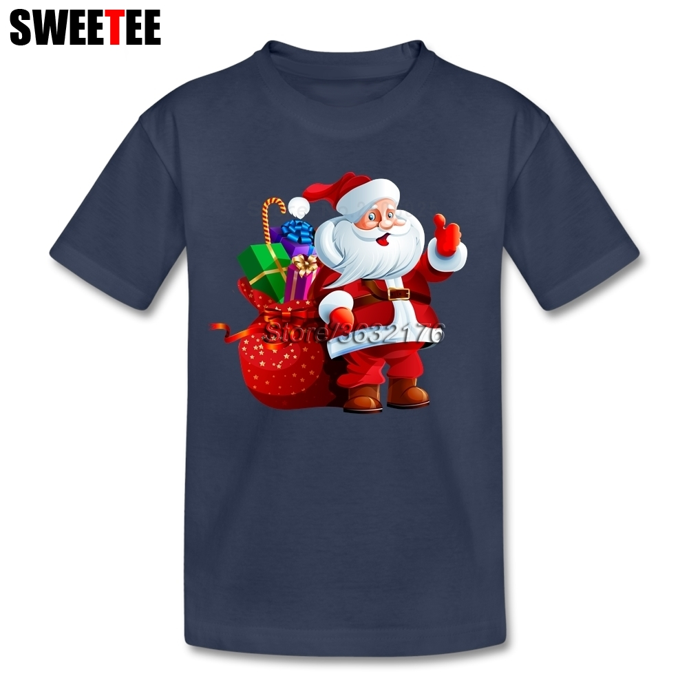 цена Merry Christmas T Shirt Baby Pure Cotton Short Sleeve Crew Neck Tshirt Children Tees For Sale T-shirt For Boys Girl Santa Claus