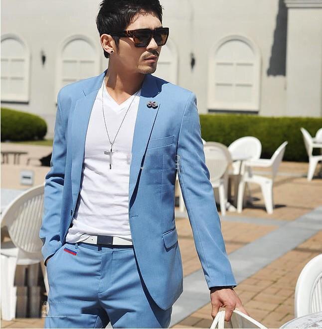 Navy Blue wedding suits men/wedding/party men suit /party dress ...