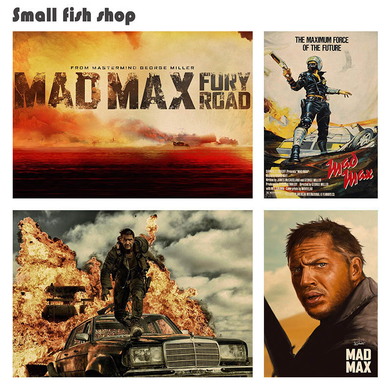 Mad Max Fury Road B Home Furnishing decoration Kraft Movie Poster Drawing core Wall stickers