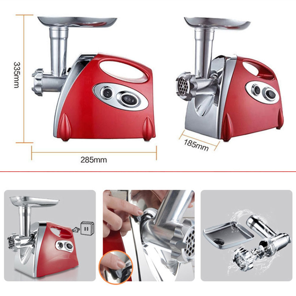 Image 4 - 1500W 220 240V Electric Meat Grinder Sausage Stuffer Meat Mincer Heavy Duty Household Mincer Kitchen Tool Food Grinding Mincing-in Meat Grinders from Home Appliances