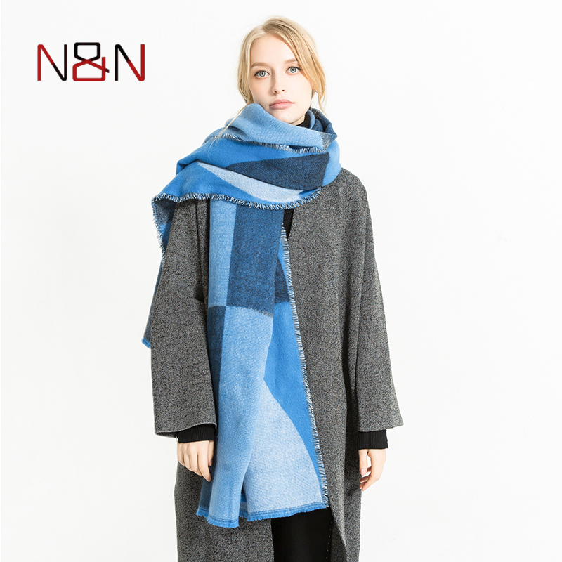 NN Winter Cashmere   Scarf   Women Luxury Brand Patchwork Color   Scarves   Warm Blanket Shawls and   Scarves     Wraps   Fashion NN-CS-057