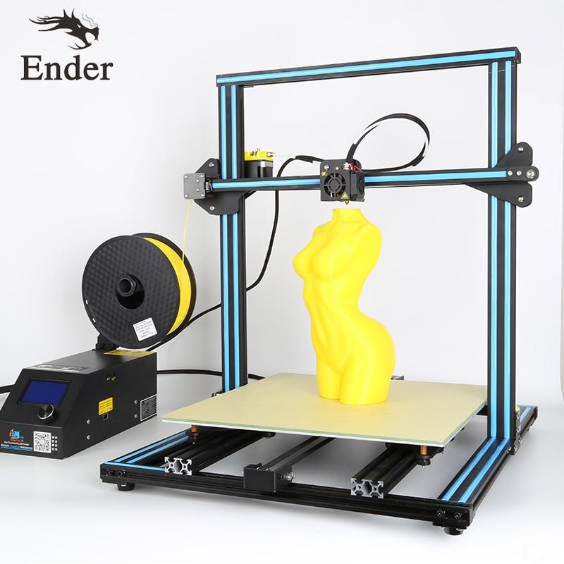 2018 Venta caliente cr-10 4S 3D impresora DIY Kit dual Z varilla Tornillos, 400*400*400mm filamento vigilancia alarma, tamaño de impresión grande creality 3D