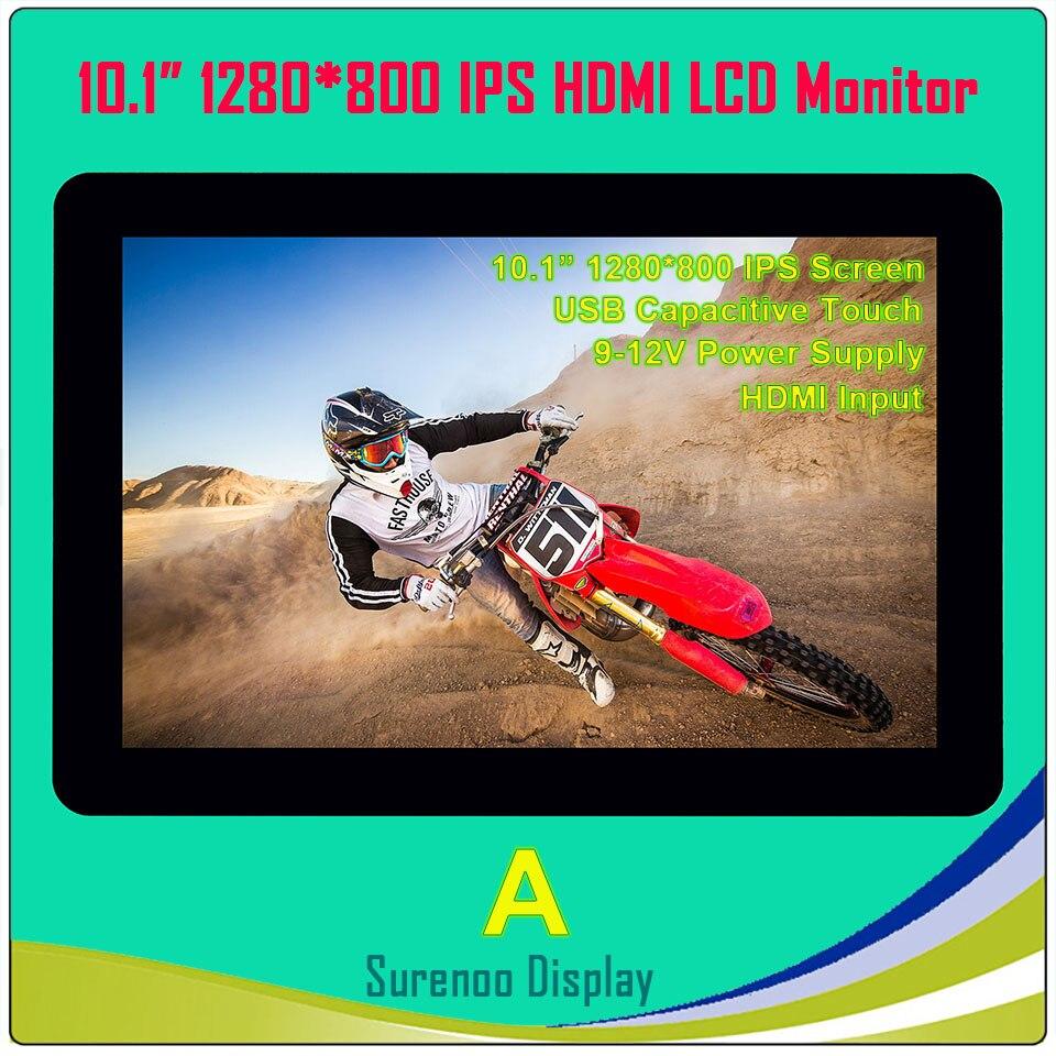 10.1 pouces 1024*600 1280*800 HDMI LCD Module Affichage Moniteur IPS Écran avec USB Capacitif Tactile Panneau pour Raspberry Pi