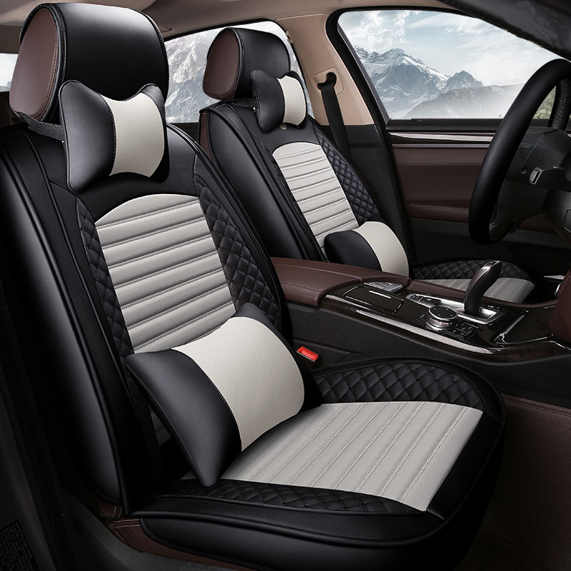 (Front + Rear) Leather car seat covers For Suzuki sx 4 Wagon Subaru Leone Outback svx vivio Trabeca car accessories auto styling