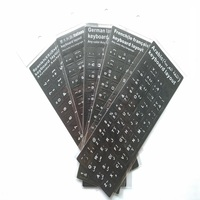 Spanish Arabic French Italian German Keyboard Stickers Alphabet Learning Laptop Keyboard European Countries DHL Free Shipping