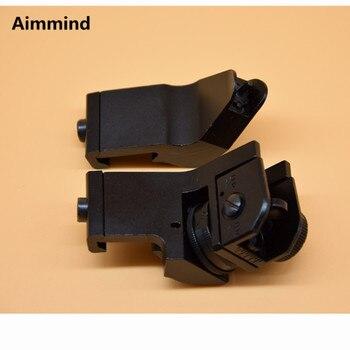 цена на Riflescopes Hunting AR15 AR 15 M4 M16 Front Rear Sight Backup Iron Sight Rapid Rifle Sight 45 Degree Rapid Offset Transition