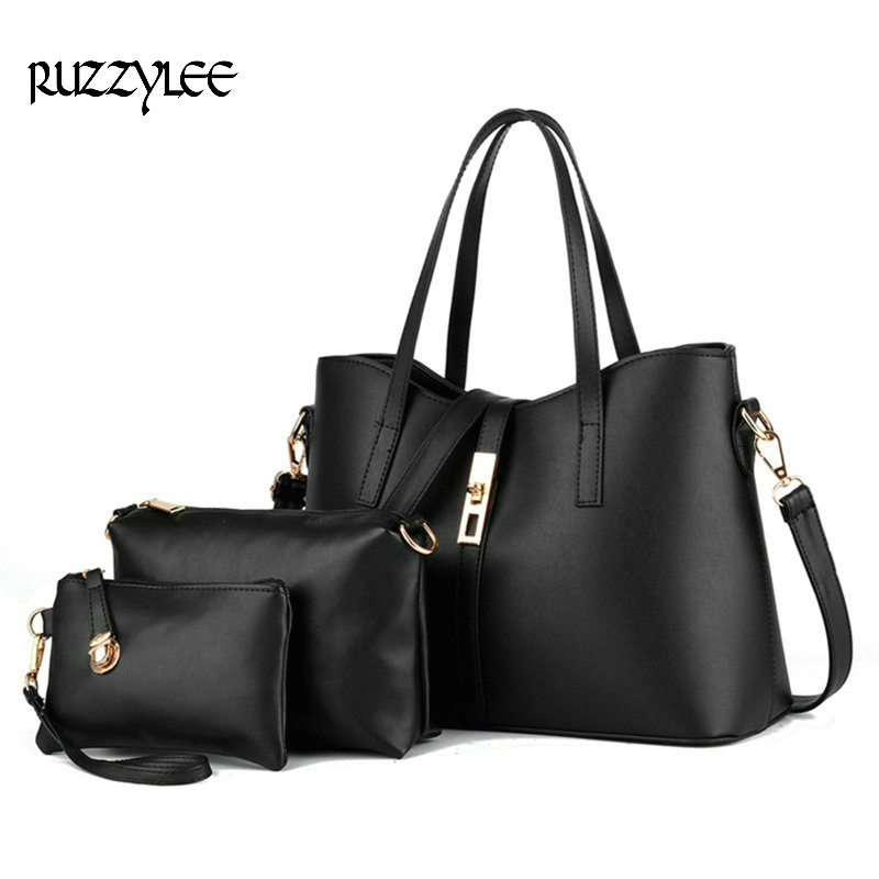 2017 Hot Sale Women's Composite Bags Zipper Soft Brand Women Shoulder Bag Handba