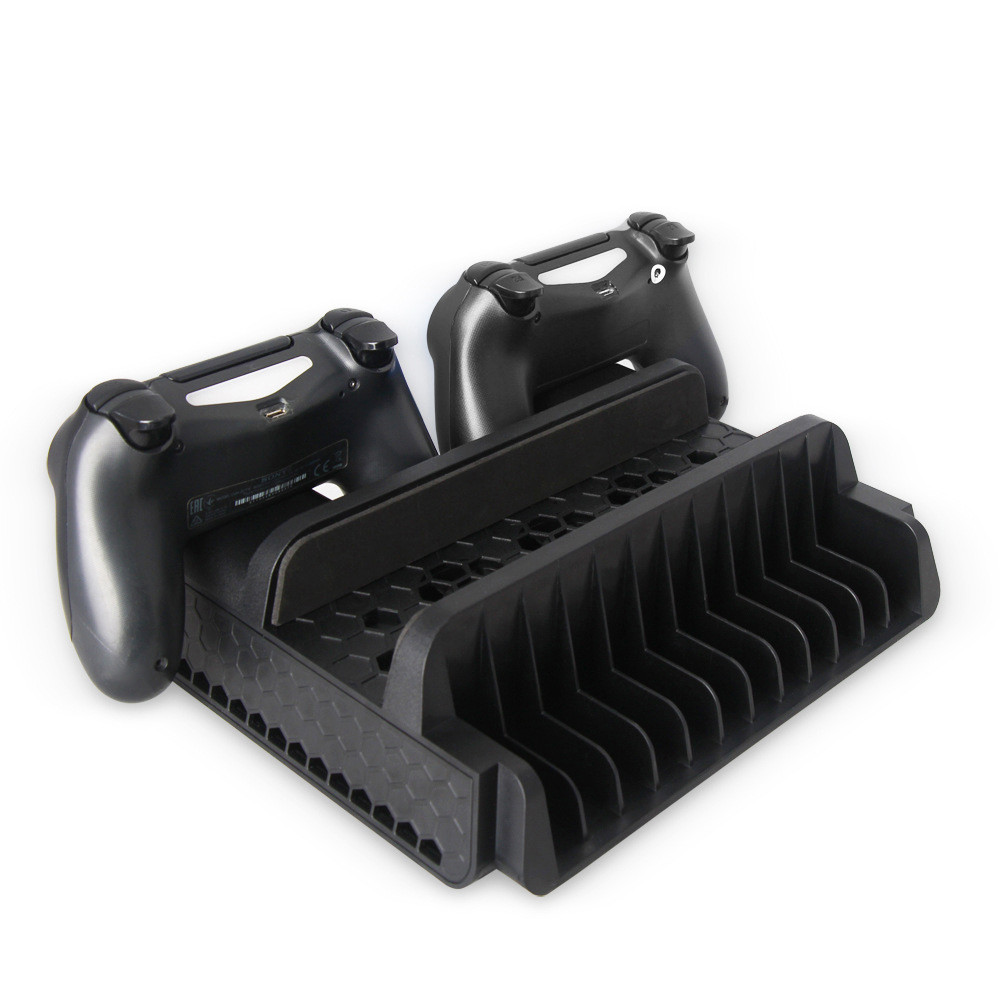 HINST Game Console Vertical  FOR PS4/ PS4 Slim/ PS4 Pro Cooler, Multifunctional Vertical Cooling Stand JAN2