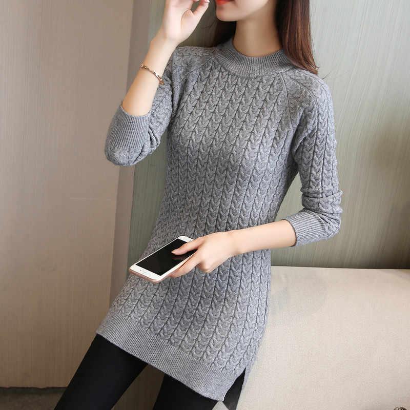 새로운 가을 겨울 따뜻한 스웨터 드레스 2019 여성 섹시한 긴 소매 bodycon 복장 여성 o 목 스웨터 니트 드레스 vestidos l97