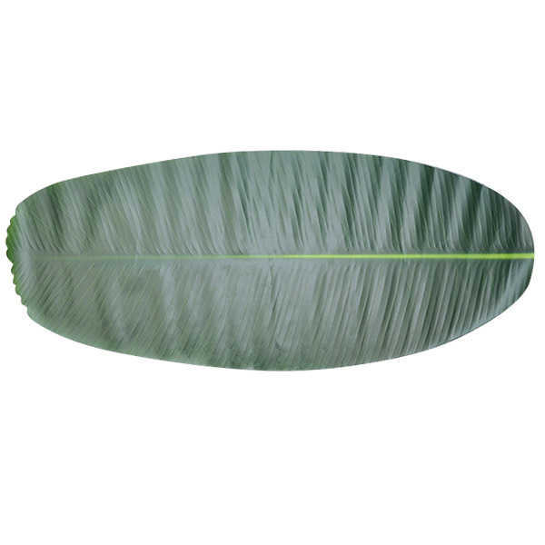 Plastic Placemat Dining Table Mat Emulation Banana Leaf Placemat Wedding Birthday Party Tablecloth Table Decoration 1pc
