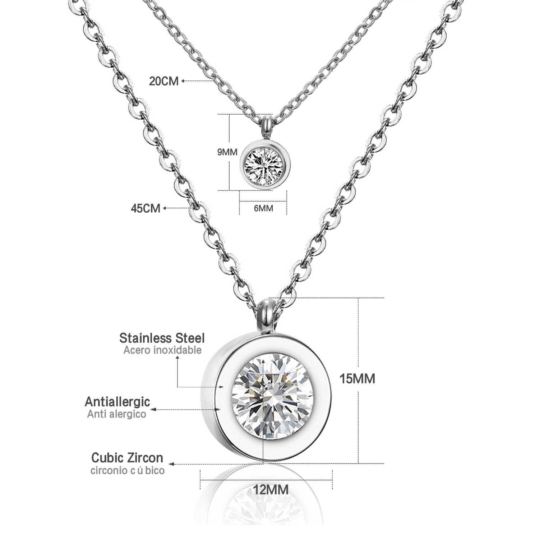 LUXUKISSKIDS Hot 316L naszyjnik choker ze stali nierdzewnej Link Chain naszyjniki kobiety/mężczyźni biżuteria cyrkon wisiorki naszyjnik złoty/srebrny kolor