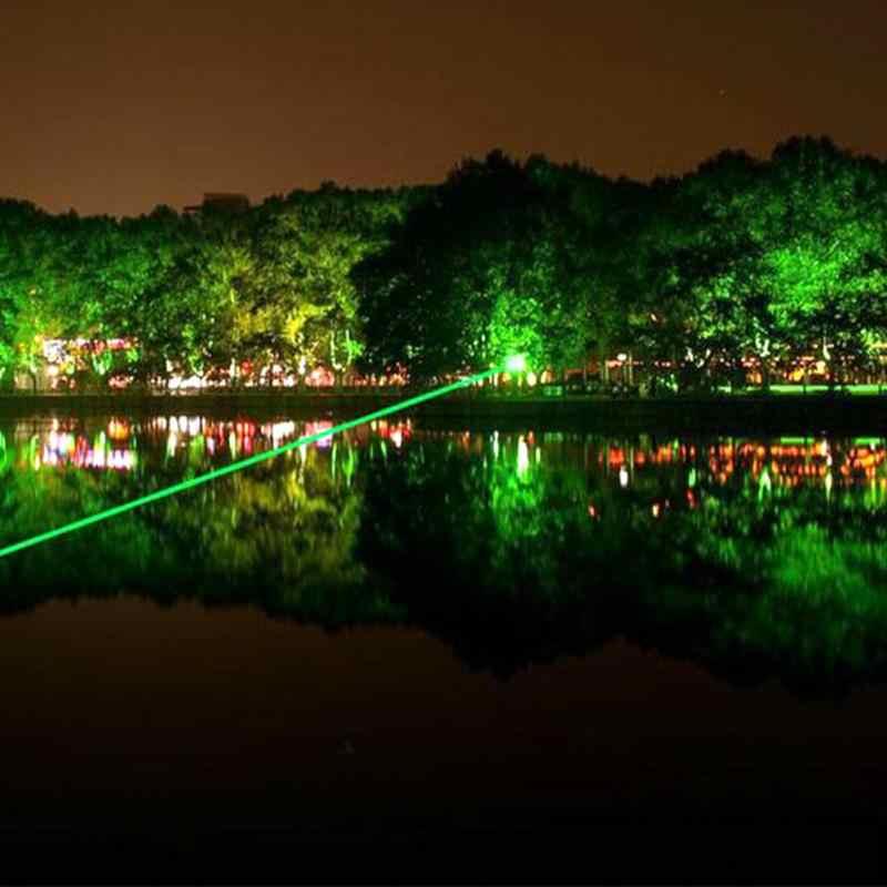 1 шт. фонарик с зарядным устройством зеленый свет 532 нм 50 мВт выходная мощность удобный мощный яркий портативный фонарик