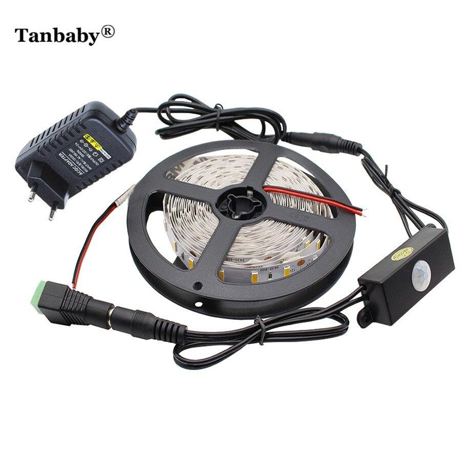 Tanbaby 5M 5630 DC 12V Tira de luz LED Interruptor de sensor de - Iluminación LED
