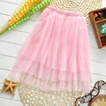 Baby girls kids party birthday chiffon skirts princess pettiskirt tutu long skirt 2-8T kids Christmas gift