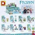 Princesa Príncipe 8 Unids/lote Elsa Anna Kristoff Olaf figuras con Escenas Girls Construcción mini Toy Bricks lepin Compatible