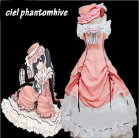 Black Butler Ciel Phantomhive Cosplay Costume Manga Kuroshitsuji Dress Outfit Set