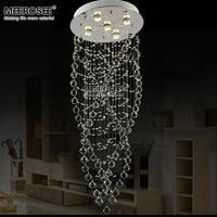 현대 명확한 크리스탈 샹들리에 조명 플러시 마운트 크리스탈 램프 lamparas 거실 호텔 프로젝트