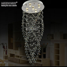 цена Modern Clear Crystal chandelier light fixture Flush Mounted Crystal lamp lustre lamparas Living room Dining room Hotel Project онлайн в 2017 году