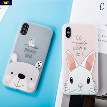 Cyato Animal Patterned Case For iPhone 6 6s 7 Plus TPU case 8 S plus X With Grind style