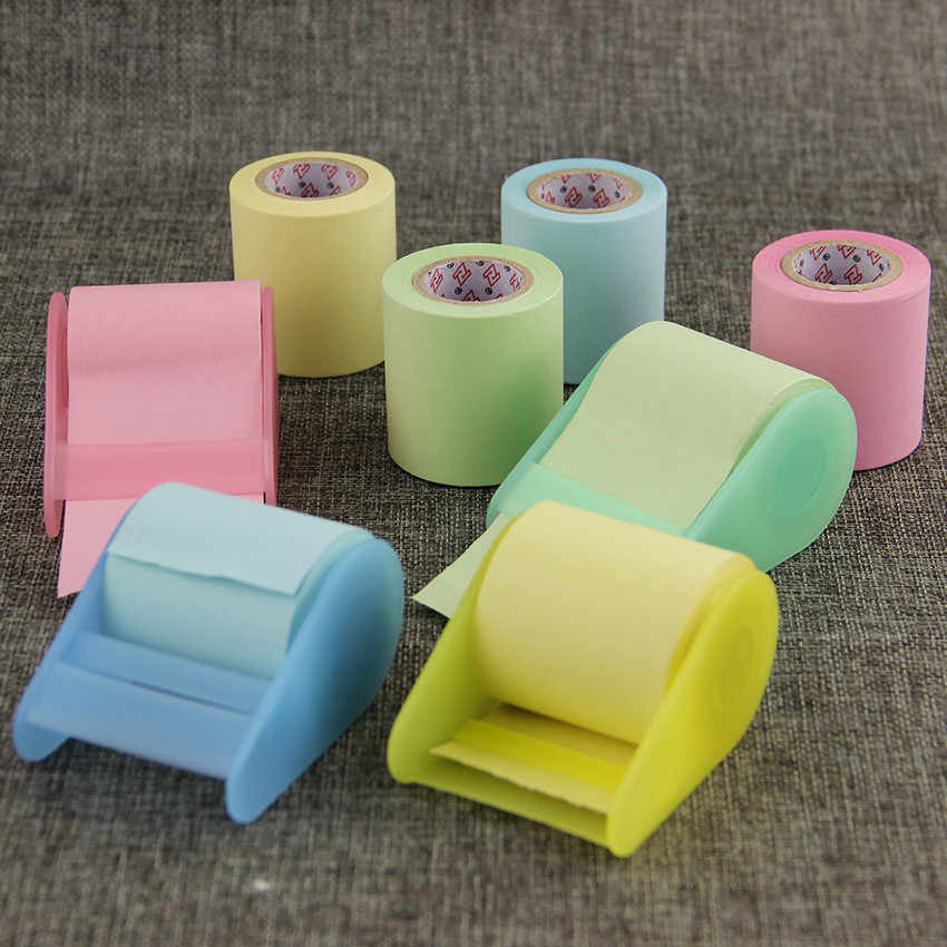 1PC Kawaii papel fluorescente pegatina Bloc de notas papelería Mini Oficina Xpress puede rasgar notas adhesivas