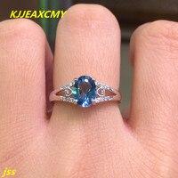 KJJEAXCMY Fine jewelry 925 silver inlay Blue Topaz Ring shinv luxury bag mail xkdtjr