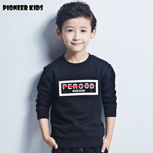 Pioneer Kids Hot sell Top Brand Solid Thicken Boys Hoodies/Sweatshirts Kids Winter hoodie Warm Pullover Boys Outwear