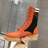 Hot 2018 Autumn Winter New Shoes Women Low Heels High top Lace up Round Toe Martin Boots Women Ladies Shoes Zapatos De Mujer