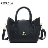 REPRCLA Brand Luxury Handbags Women Bags Designer Shoulder Bag Cute Cat Crossbody Messenger Bags PU Leather
