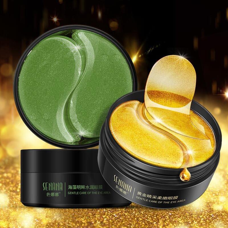 30 Pairs Seaweed And Gold Eye Mask Nourishing Moisturizing Hydration Eye Patches Dark Dircles Remove Wrinkle