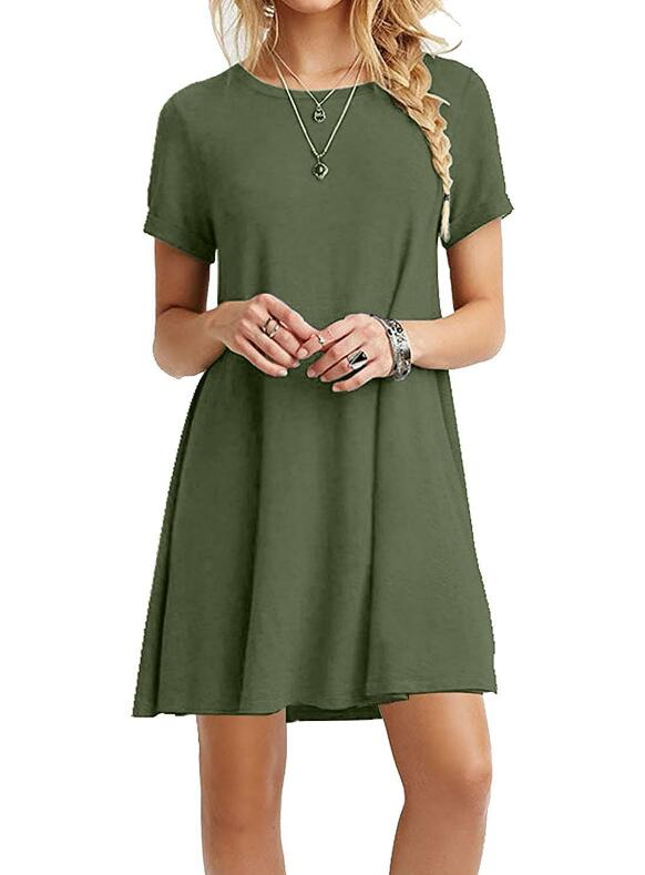 Women T shirt Dress Summer Dresses Short Sleeve Casual Sexy Loose Boho Beach Dress Vestidos Plus Size
