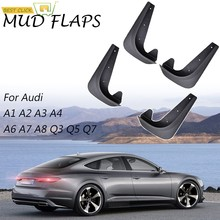 Mud Flaps Mudflaps Splash Guards Mudguards For Audi A4 S4 B5 8D B6 8E 8H B7 B8 8K B9 8W A6 S6 C4 4A C5 4B C6 4F C7 4G C8 Avant(China)