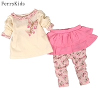 Baby Girl Clothes Set Divided Skirts T Shirt Long Sleeve Autumn Spring Baby Girls Clothing Set
