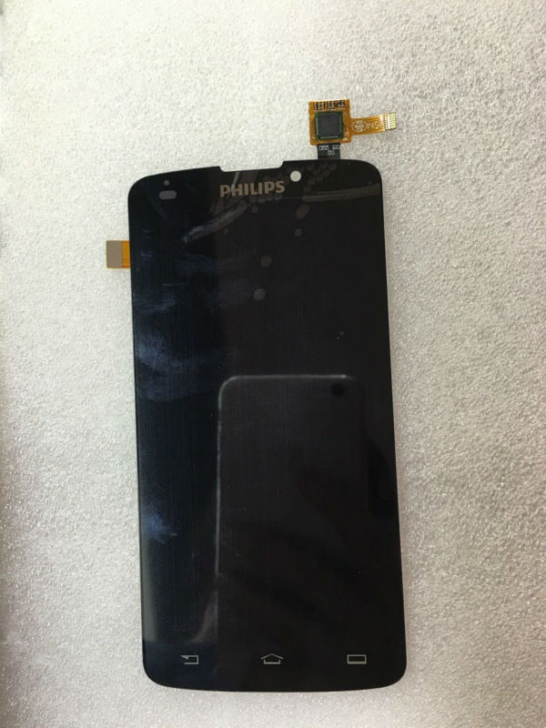 ФОТО 100% Original FOR Philips Xenium V387 LCD Screen Display With Touch Screen Digitizer Glass Assembly with 3 months assuring