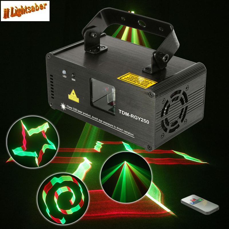 Lightsaber Remote 3D RGY 250mw DMX 512 Laser Scanner Projector Stage Lighting Effect Party Xmas DJ Full Color Show Lights